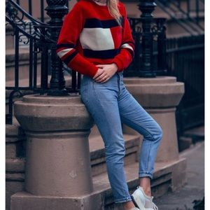 Tommy Hilfiger Vintage Cropped Mom Boyfriend Jeans